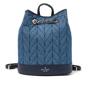 💙Kate Spade | Quilted Denim Bucket Backpac…